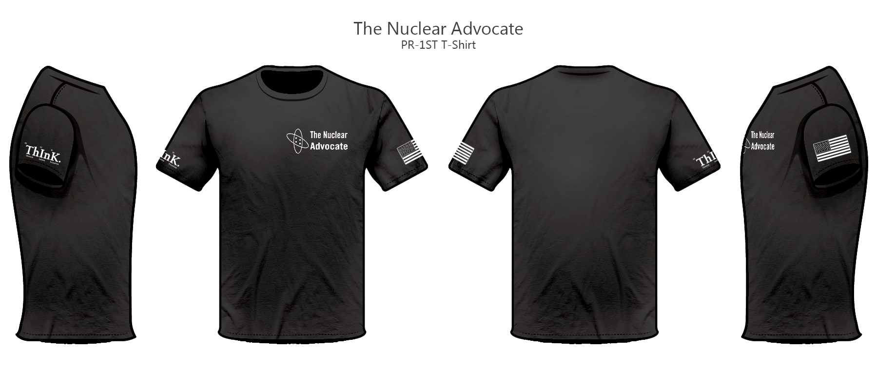 the nuclear advocate t shirt sleeve slogan the nuclear advocate